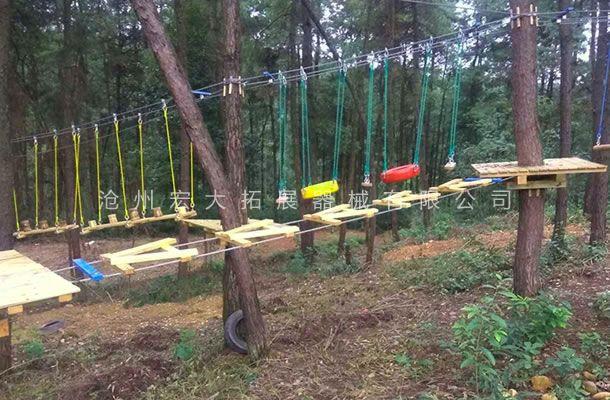 丛林A字桥-丛林拓展设备-丛林探险器械