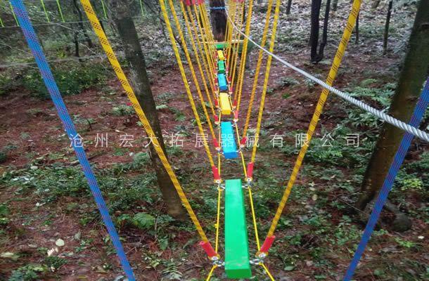 丛林荡木桥-丛林探险设备-树上拓展
