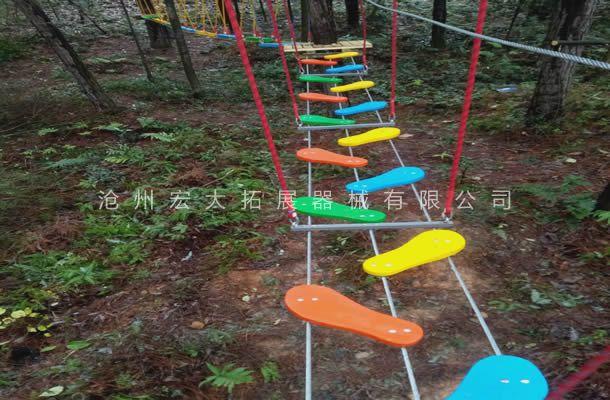 丛林梅花桥-丛林拓展设备-丛林探险器械