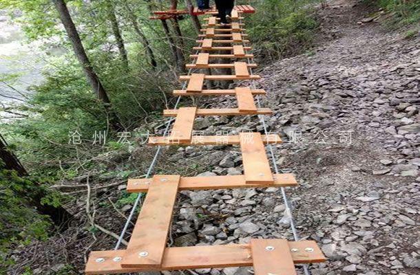 丛林弓字桥-丛林探险设备-树上拓展