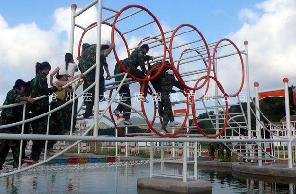 水上五环桥-水上拓展训练器材-儿童水上拓展