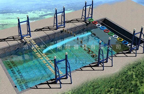 水上桥组合-水上拓展乐园设施-水上拓展设备