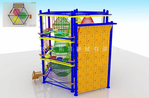 六边型儿童拓展-儿童室内拓展设备-户外儿童拓展