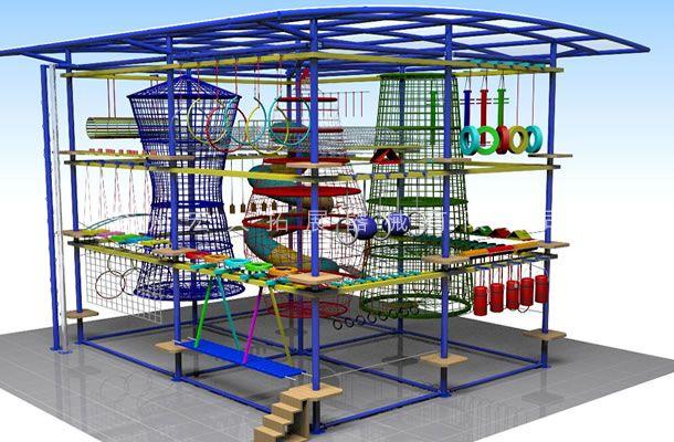 室外雨棚型-儿童探险乐园设备-儿童拓展厂家