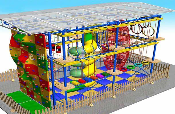 室外雨棚型-儿童拓展乐园-儿童拓展设备
