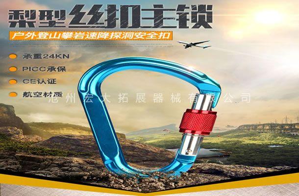 梨型丝扣主锁-户外拓展装备-拓展训练安全装备