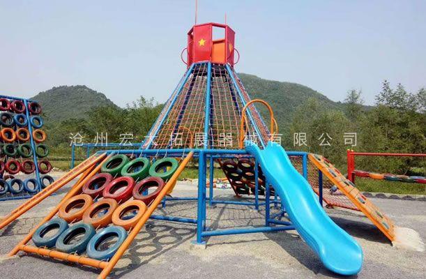 不锈钢滑梯-户外大型组合滑梯-游乐设备定制厂