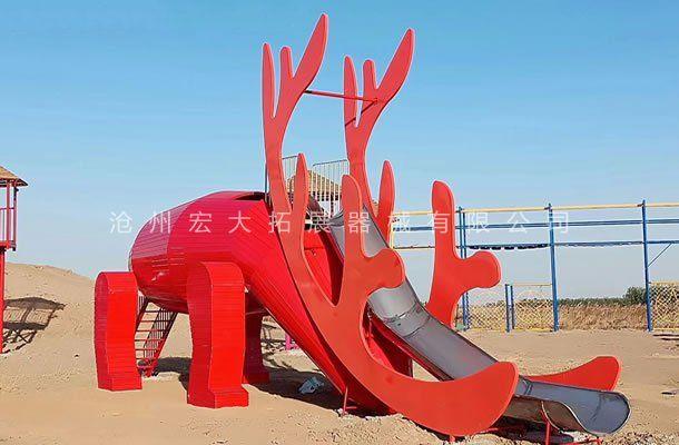 不锈钢滑梯-景区公园户外休闲大型游乐设备