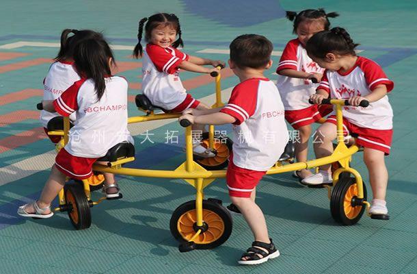 六座转转车-儿童户外玩具自行车-旋转自行车