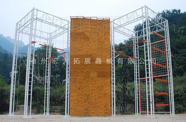 九面体高空拓展架-高空拓展器械-高空拓展训练设备