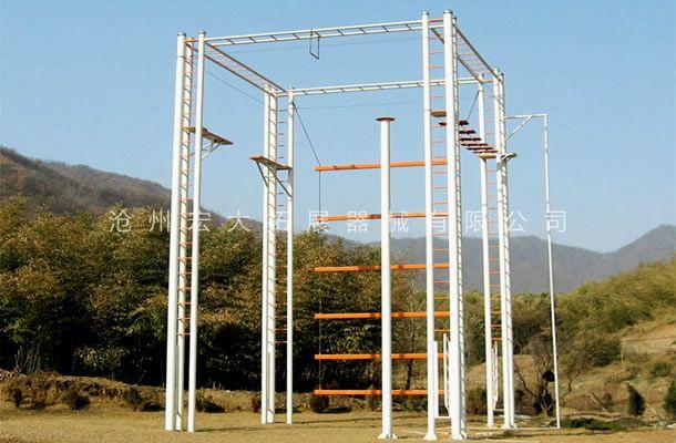 四面体高空拓展-高空拓展器械-拓展训练高空架