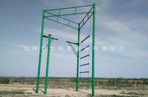 三面体高空拓展架-高空拓展器材-高空拓展器械