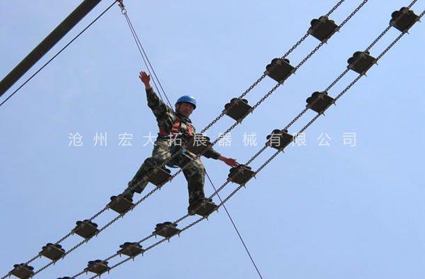 高空梅花桥-高空单项器材-勇往直前-高空拓展