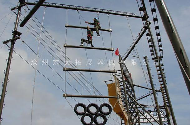 高空拓展天梯-高空单项器材-巨人梯-勇攀高峰
