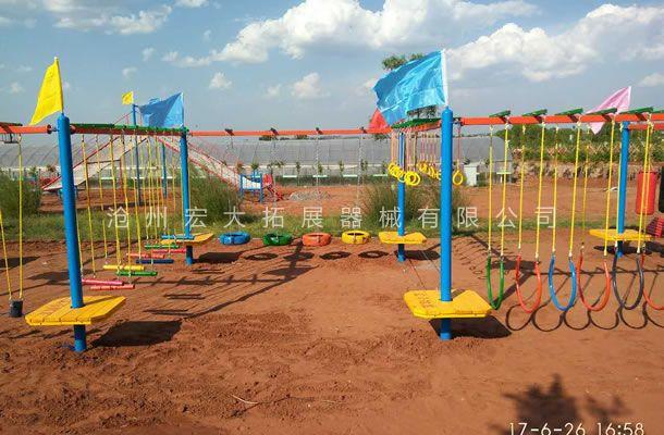 鄂尔多斯哈沙部落风景区承建的拓展器械安装完毕!