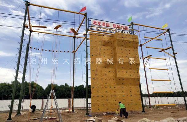 祝我公司在保定市满城区的高空拓展训练项目安装顺利完工