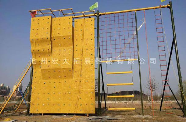 祝我公司在山东莱阳战狼特训营拓展训练项目安装顺利完成