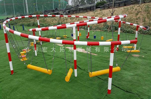 环形吊桩-吊桩桥系列-青少年拓展训练器材