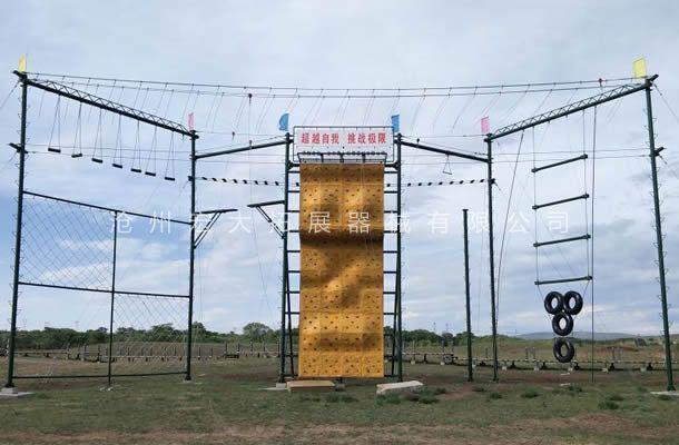 内蒙古锡林郭勒盟多伦县草原景区户外拓展训练器材安装完
