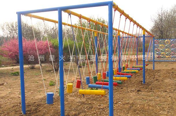 吊桩桥-吊桩桥系列-青少年拓展训练器材