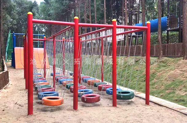 轮胎吊桥-吊桩桥系列-青少年拓展训练器材