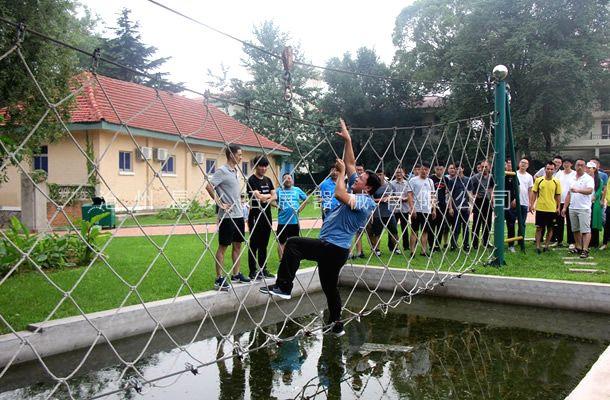 水上绳网桥-水上拓展项目设备-水上拓展器材