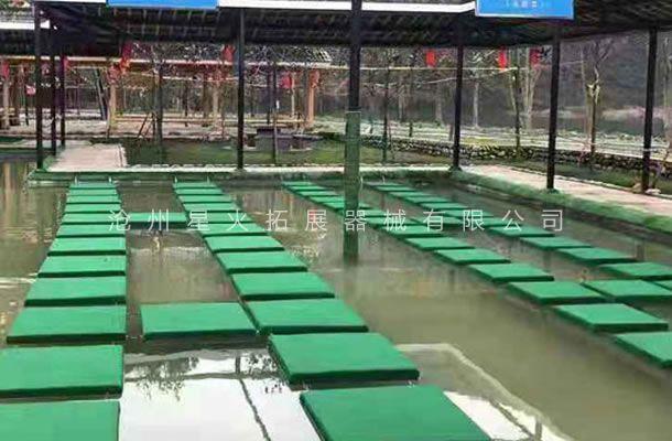 水上网红项目,水上跑水漂桥