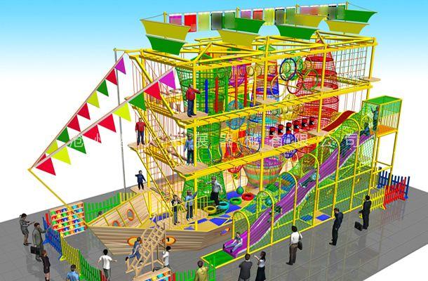 海盗船型1-儿童探险乐园设备-儿童拓展厂家
