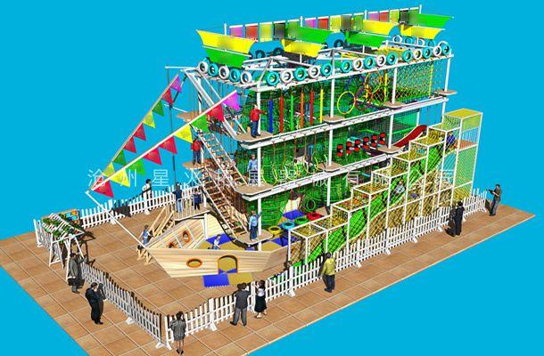 海盗船型3-商场儿童游乐设备-儿童拓展乐园