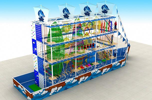 海盗船型2-儿童游乐设备-儿童室内拓展设备