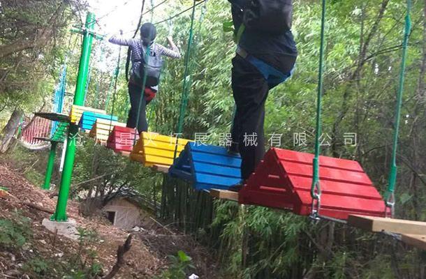 丛林曲折桥-丛林探险乐园-穿越丛林