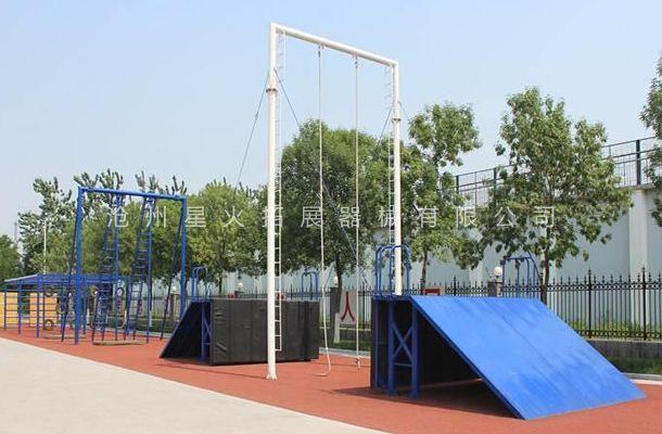 斜板荡绳-特警五项训练设施-特警训练器材