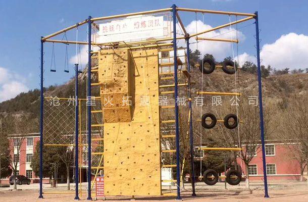 六面体心里行为训练架-高空拓展器材-厂家定制安装