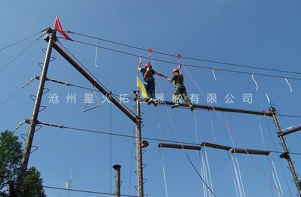 丛林绳桥-高空单项器材-天使之手-高空吊绳桥