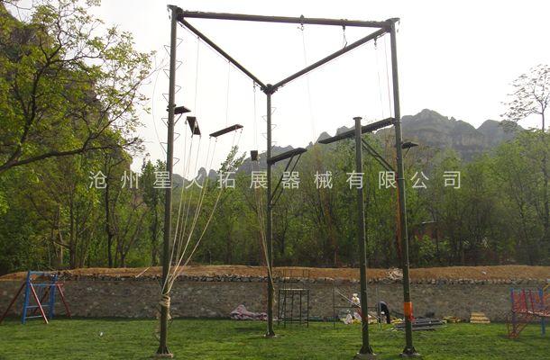 三面体高空拓展架-高空拓展器械-高空拓展设备