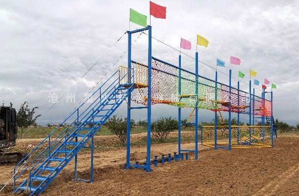 内蒙古赤峰市元宝山区青少年拓展障碍赛器材安装完毕!!!
