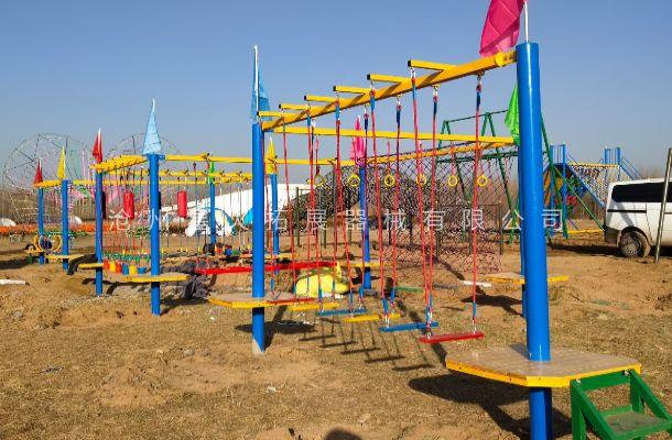 山东省德州市太阳谷景区亲子活动项目安装完毕。
