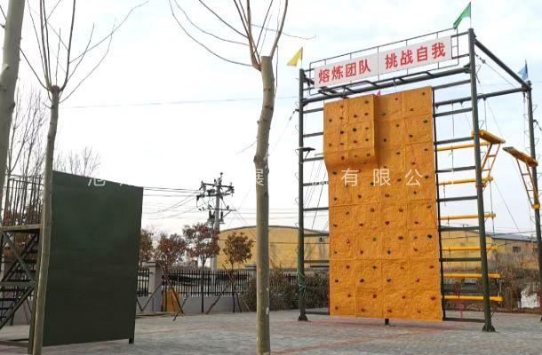 河南省安阳市峰毅拓展基地,户外拓展器材安装完毕。
