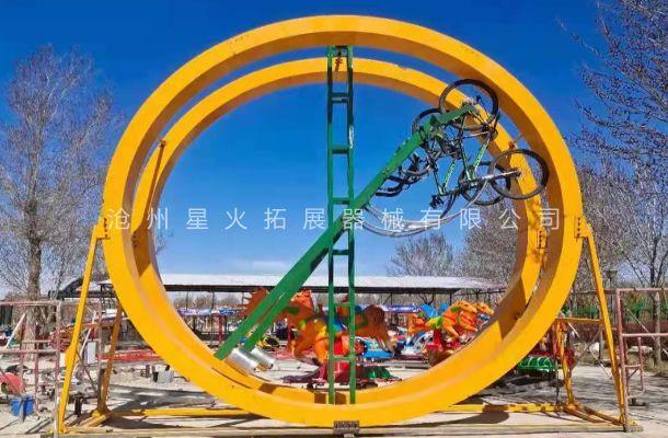 太空自行车-圆环网红自行车-360度太空自行车