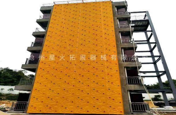 海南省三亚市某部队训练攀岩墙安装完毕已验收